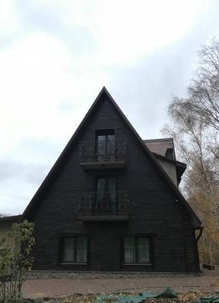 Обожжённая фасадная древесина