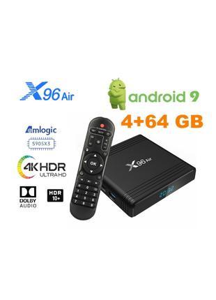 X96 Air 4/64Gb S905X3 ТВ приставка Smart TV box H96AX95DBTOX1