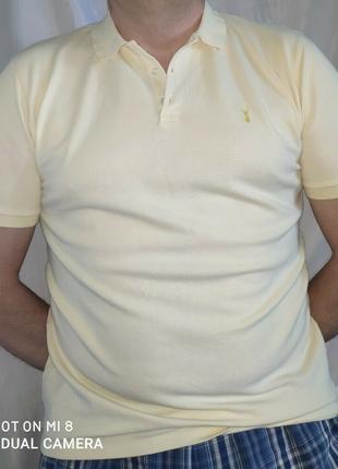 Стильная катоновая брендовая тениска поло футболка next. м-л.