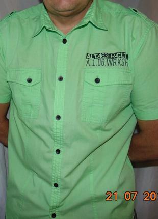 Стильная яркая фирменная рубашка шведка Германия C&A.л-хл .
