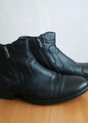 Ботинки сапоги зимние кожа 43 размер 28 см стелька