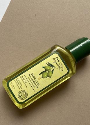 Шелковое масло для волос и тела  Chi Olive Organics Olive & Sil
