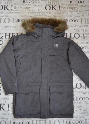 Парка куртка зимняя мужская karrimor, серая, водонепроницаемая,s