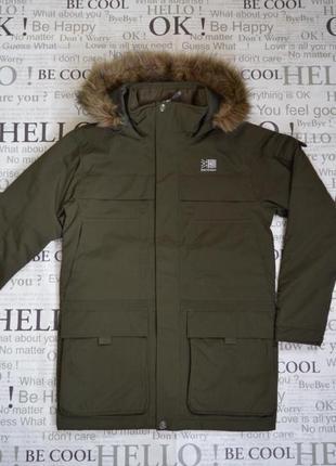Куртка парка зимняя мужская karrimor, хаки, водонепроницаемая 10k