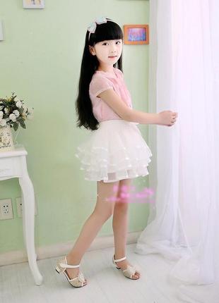 12-40 пышная фатиновая детская юбка 110 116 122