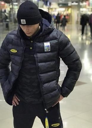Куртка зимняя камуфляж мужская