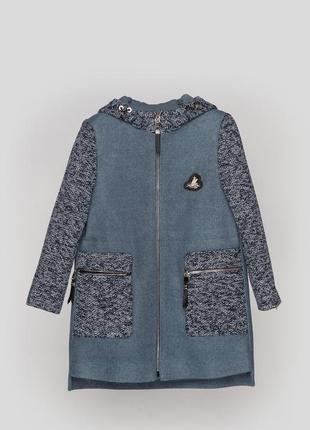 Пальто кашемировое для девочки, демисезонное