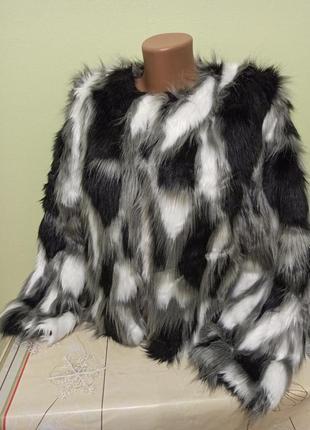Женская меховая куртка полушубок. жіноча шубка. застёгивается ...