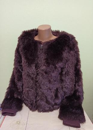 Женская меховая куртка полушубок на змейке короткая шуба. жіно...