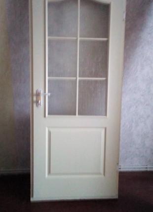 Двері міжкімнатні з коробкою, б/в, дерево
