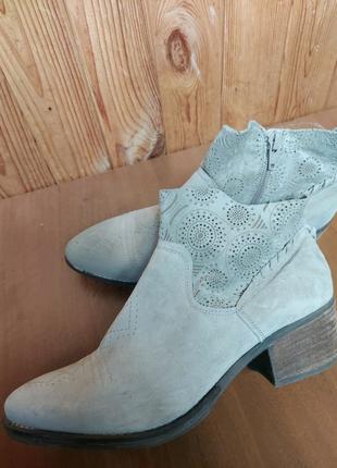 Кожаные замшевые ботинки Козаки Челси