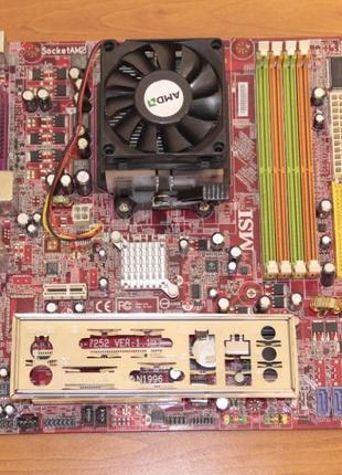 Бу рабочая материнская плата MSI K9NGM-L NVIDIA GeForce...