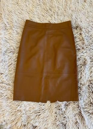 Обтягуюча шкіряна юбка Stradivarius🤍