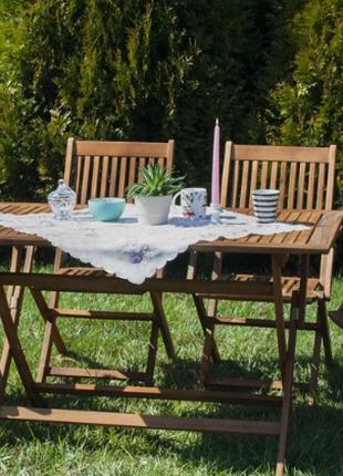 Садовая мебель стол + 4 лавки. Из акации. Польша