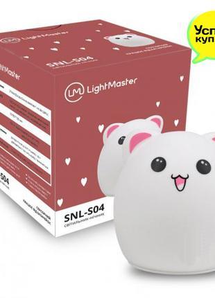 Ночник LightMaster силиконовый Медведик RGB 3 ААА меняет цвета