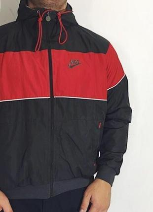 Мужская куртка (ветровка) nike ( найк хлрр идеал оригинал серо...