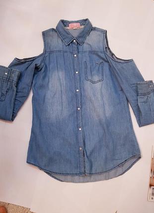 Стильная рубашка под джинс cropp