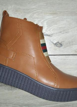 Женские ботинки деми осень платформа жіночі полуботинки