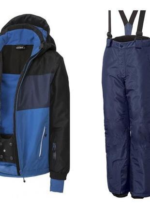 Р. 146-152, новый! лыжный термо костюм мембранный 3к crivit, г...