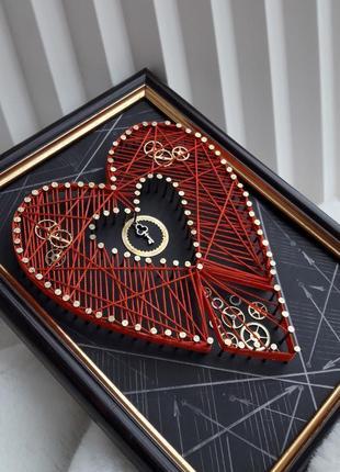 Картина string art стим панк валентинка подарок к 14 февраля