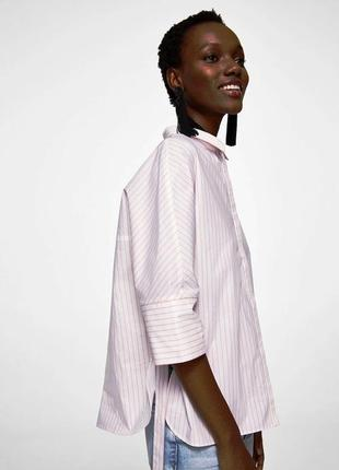 Mango блуза рубашка, свободный оверсайз крой. размер м