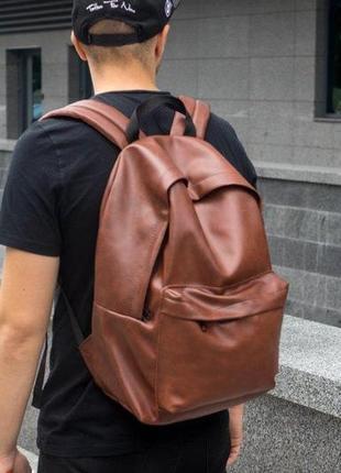 Рюкзак кожаный мужской trigger для ноутбука, городской чоловіч...