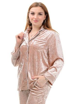 Пижама,домашняя одежда-комплект из велюра