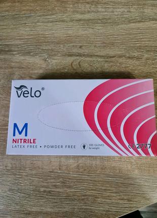 Перчатки нитриловые Velo S,M