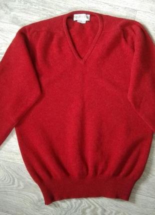 Мужской пуловер из овечьей шерсти от orvis, сша