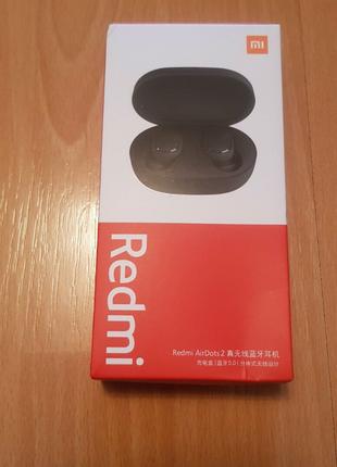 Оригинал! Наушники Xiaomi Redmi Airdots 2 (Black) +чехол. Black.