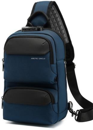 Однолямочный рюкзак Ozuko 1033 городской мужской 7л