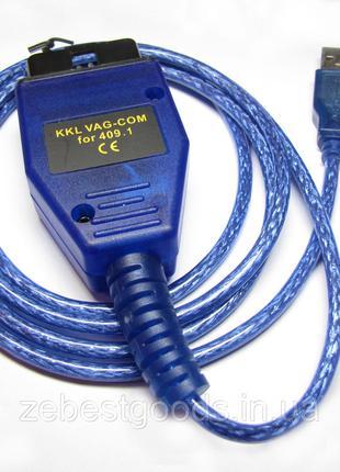 Діагностичний автосканер USB KKL VAG-COM 409.1 чіп FTDI