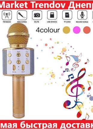 Детский Микрофон WS-858 WSTER GOLD. Цвет: золотой.