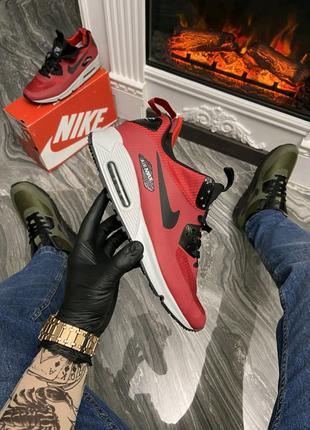 🔥Nike Air Max 90 Sneakerboot Mid Winter Red (Термо).🔥