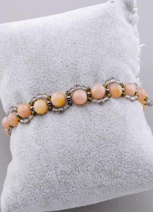 Браслет 'sunstones' солнечный камень,орлинный глаз,раухтопаз 1...