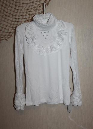 Нарядная блузка на девочку подростка 11-13 лет