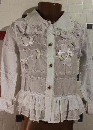 Блузка для девочки 3-6 лет