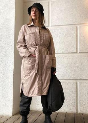 Куртка рубашка пальто длинная эксклюзив