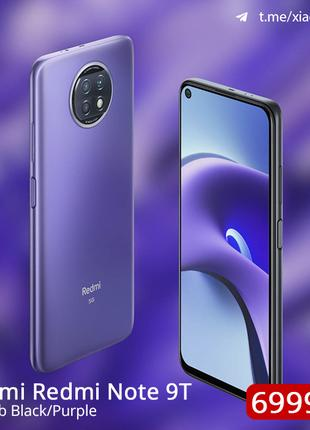 Xiaomi Redmi Note 9T 4/64Gb Black/Purple Global Version