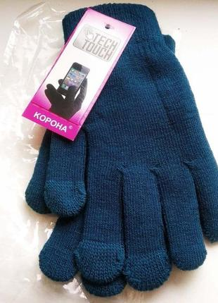 Детские перчатки с начесом внутри. сенсорные