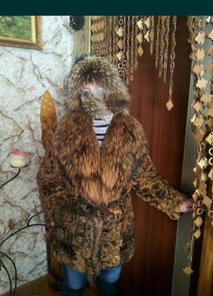 Полушубок с меха натурального аргентинского козлика