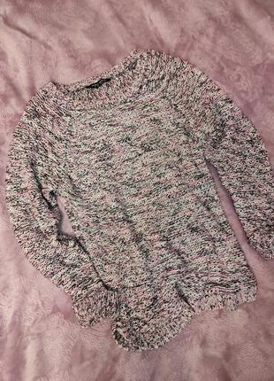 Вязаный меланжированый свитер select