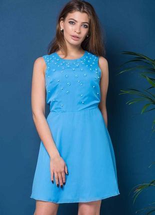 Шифоновое платье алексия голубого цвета