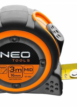 Рулетка Neo Tools 67-183 3 м x 16 мм