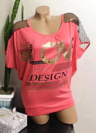 Стильные футболки женские-отлично сморятся на большую грудь