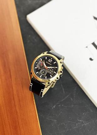 Часы guardo для настоящего мужчины black-gold