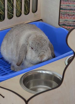 Сенник для декоративного кролика 3в1