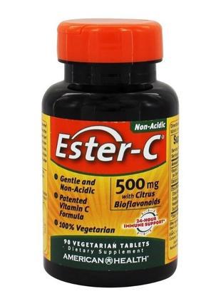 American Health, Ester-C, 500 мг, 90 вегетарианских таблеток