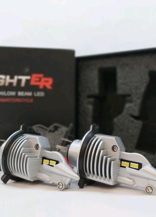Лампа h4 светодиодный Fighter h4 led + проставки в комплекте