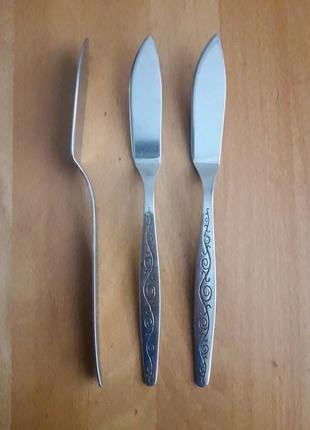 Ножи большие столовые для масла или сыра вьюнок нержавейка СССР